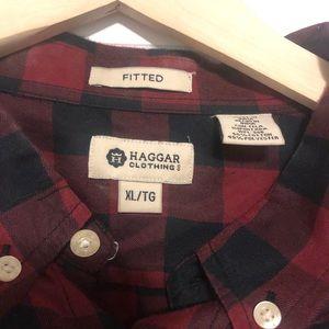 Men's XL Haggar button down casual shirt